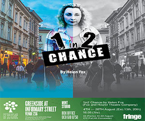 Book Now/ Find out about '1in2 Chance' Here